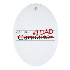Job Dad Carpenter Ornament (Oval)
