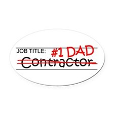 Job Dad Contractor Oval Car Magnet