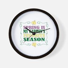 Spring Is My Gardens Favorite Season Wall Clock