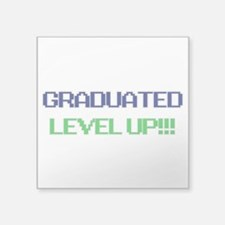 "Grad Lvl Up Square Sticker 3"" x 3"""