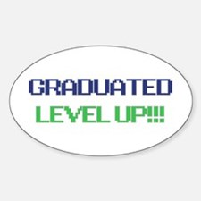 Grad Lvl Up Sticker (oval)