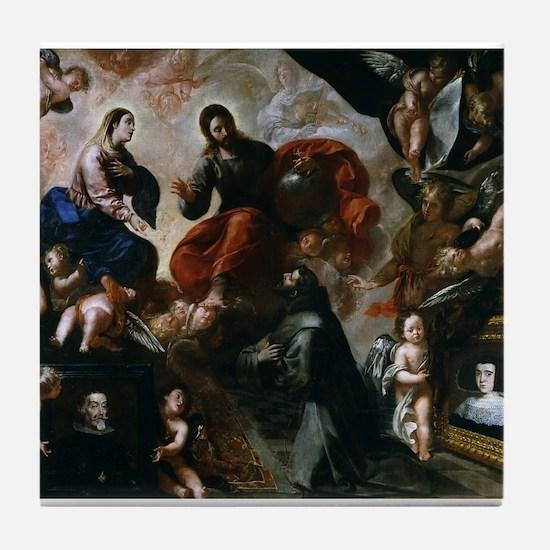 Francisco Caro - St Francis - 1659 - Painting Tile