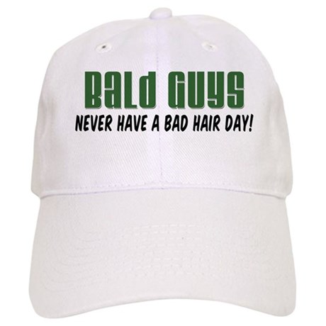 bald guys bad hair day baseball baseball cap by