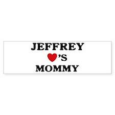 Jeffrey loves mommy Bumper Bumper Sticker