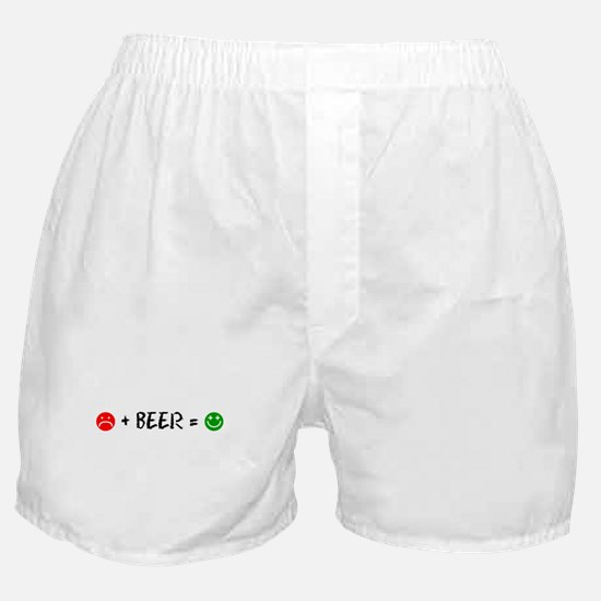 Plus Beer Is Happiness Boxer Shorts
