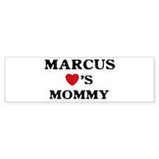 Marcus loves mommy Bumper Bumper Sticker