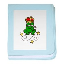 Royal Frog baby blanket