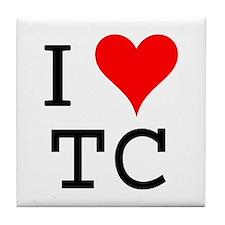 I Love TC Tile Coaster
