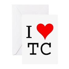 I Love TC Greeting Cards (Pk of 10)