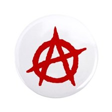 "Anarchist 1 (red) 3.5"" Button (100 pack)"