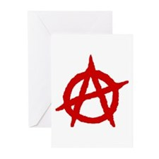 Anarchist 1 (red) Greeting Cards