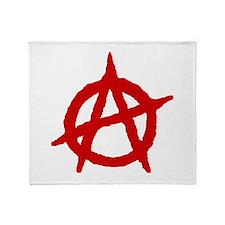 Anarchist 1 (red) Throw Blanket