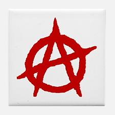 Anarchist 1 (red) Tile Coaster