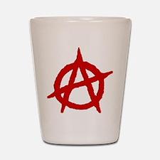 Anarchist 1 (red) Shot Glass
