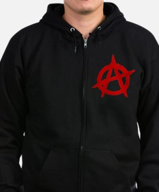 Anarchist 1 (red) Zip Hoody