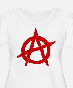 Anarchist 1 (red) Plus Size T-Shirt