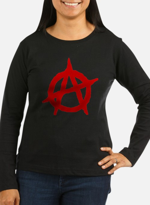 Anarchist 1 (red) Long Sleeve T-Shirt