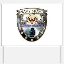 Navy Moms Hearts of Gold Yard Sign