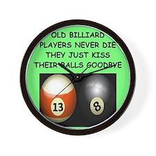 BILLIARDS12 Wall Clock
