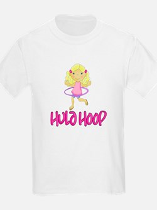 Hula Hoop Girl -Pink- T-Shirt