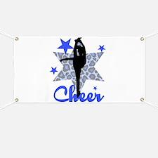 Blue Cheerleader Banner
