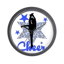 Blue Cheerleader Wall Clock