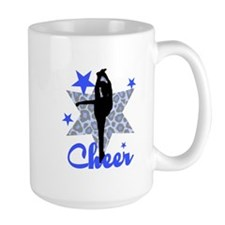 Blue Cheerleader Mugs