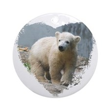 Unique Polar bear Ornament (Round)