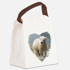 Cute Polar bear Canvas Lunch Bag