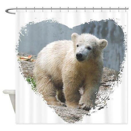 cute polar bear shower curtain