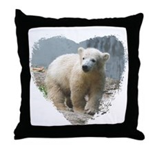Funny Polar bear Throw Pillow