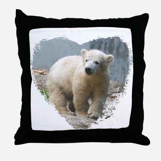 Unique Polar bear Throw Pillow