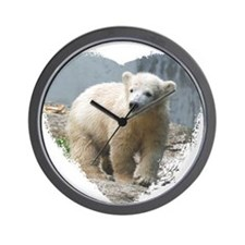 Cute Polar bear Wall Clock