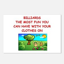 BILLIARDS Postcards (Package of 8)