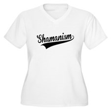 Shamanism, Retro, Plus Size T-Shirt