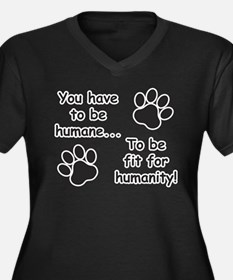 Humane for Humanity Plus Size T-Shirt