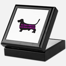 I Heart My Basset Hound Keepsake Box