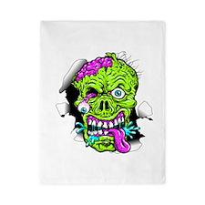Green Zombie Head Twin Duvet