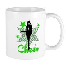 Green Cheerleader Mugs