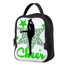 Green Cheerleader Neoprene Lunch Bag