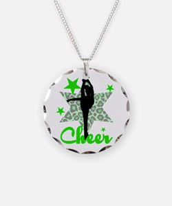 Green Cheerleader Necklace