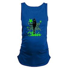 Green Cheerleader Maternity Tank Top