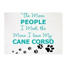 I Love My Cane Corso 5'x7'Area Rug