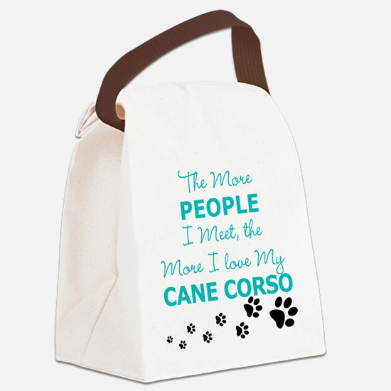 I Love My Cane Corso Canvas Lunch Bag