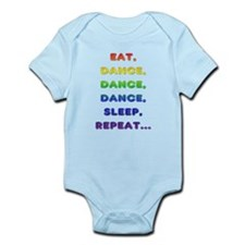 Eat-Dance-Dance-Dance-Sleep-Repeat Body Suit
