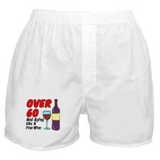 Over 60 Fine Wine Boxer Shorts