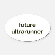 Future Ultrarun Green Oval Car Magnet