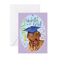 Dogue de Bordeaux Graduate Greeting Card