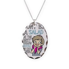 Pewdiepie Don't be a salad Necklace Oval Charm
