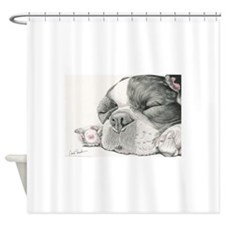 Sleepy French Bulldog Shower Curtain